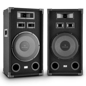 "PA-1200 Full Range Set of 2 PA Speakers with 12"" Subwoofer 1000W Max"