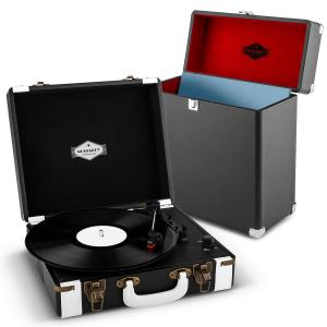 Jerry Lee Record Collector Set Black | Retro Record Player | Record Case