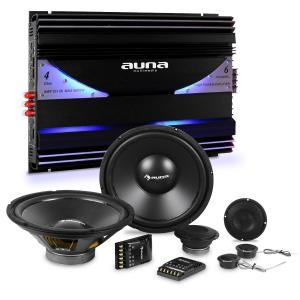 auna CS-Comp-10 Set Hi-Fi Car Amplificatore 6 Canali Altoparlanti