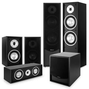 auna Black-Line 5.1 Système audio HiFi home cinema 5 enceintes & subwoofer 10