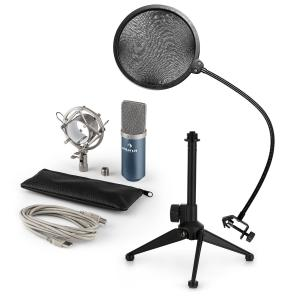 auna MIC-900BL USB kit micro V2 | micro à condensateur | anti pop | trépied