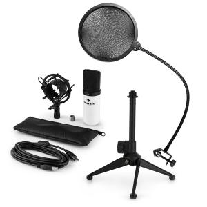 auna MIC-900WH USB kit micro V2 | micro à condensateur | anti pop | trépied