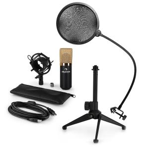 MIC-900BG-LED USB Microphone Set V2 | 3-Piece Microphone Set with Tabletop Stand