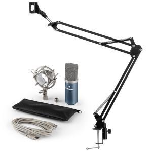 MIC-900BL USB set de micrófonos V3 micrófono de condensador+brazo de micrófono cardioide azul