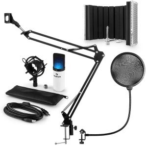 auna MIC-900WH-LED USB Kit micro V5 condensateur filtres anti pop et bruit blanc