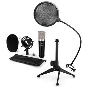 CM003 Microphone Set V2 Condenser Microphone XLR Microphone Stand POP Protection