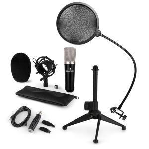 CM003 Juego de micrófono de condensador Convertidor USB Soporte Protector antipop