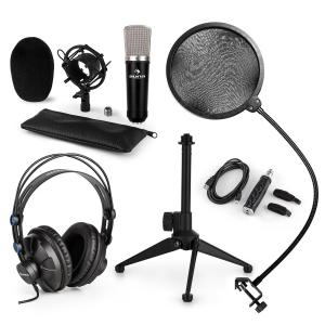 CM003 Microphone Set V2 Condenser Microphone USB Converter Headphones Microphone Stand