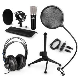 CM003 Juego de micrófono V2 de condensador Convertidor USB Auriculares Soporte