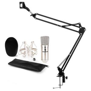 CM001S Microphone Set V3 Condenser Microphone Microphone Arm Silver