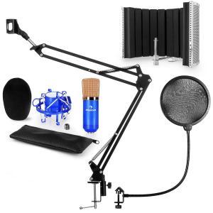 auna CM001BG Set Microfono V5 Microfono A Condensatore Braccio Per Microfono Filtro Antipop Schermo Acustico