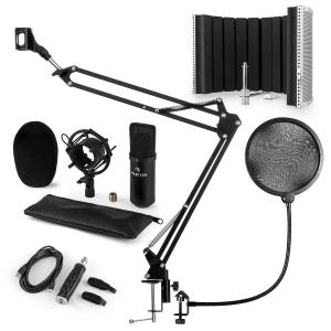 auna CM001B Set Microfono V5 Condensatore AdattatoreUSB Braccio Anti-Pop