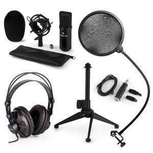 CM001B Microphone Set V2 Headphones Condenser Microphone Black