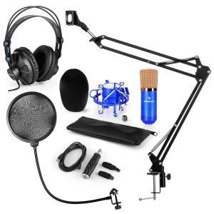 CM001BG Mikrofon-Set V4 Kopfhörer Kondensator USB-Adapter Arm POP-Schutz