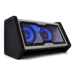 "Doble Subwoofer 2x25cm (2x10"") 2000W iluminación LED"