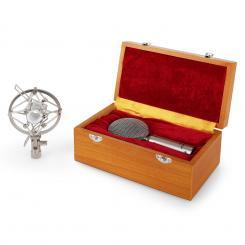 CRM15 Micrófono de cinta plateado XLR vintage