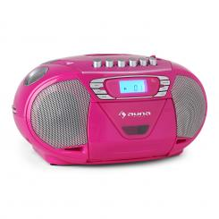 Auna KrissKross radio portatileUSB MP3 rosa