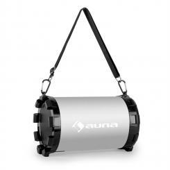 Auna Dr. Silver Boom 2.1 Altoparlanti Bluetooth Portatile USB SD argento max 20W