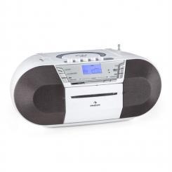 auna Jetpack Boombox Portatile USB CD MP3 OUC a Pile Bianco