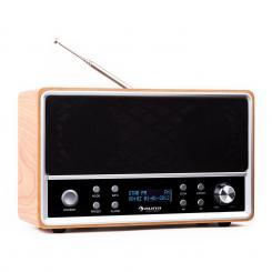 Auna Charleston radio digitale DAB+ FM sveglia faggio