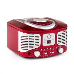 RCD320 Reproductor de CD retro FM AUX Rojo