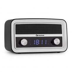 auna Caprice BK Radio Sveglia Retro Bluetooth FM USB AUX Nera