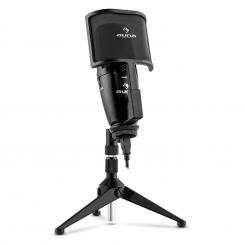 Studio-Pro Micrófono condensador USB membrana grande Trípode Filtro antipop y antiviento