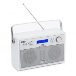 auna Akkord Radio Digitale Portatile DAB+/PLL-FM LCD Allarme Bianca
