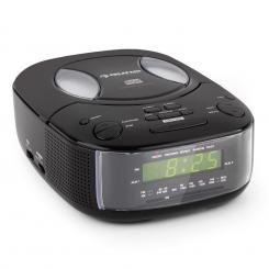 auna Dreamee BK Radiosveglia Con Lettore CD AM/FM AUX Con Doppio Allarme Nero