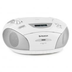 auna RCD220 Boombox CD USB Mangianastri Radio PLL-OUC MP3 2x2W bianco