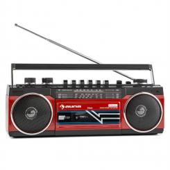 Duke Retro-Boombox reproductor de casete portátil USB SD Bluetooth FM-Radio