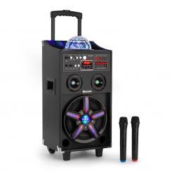 DisGo Box 100 Altavoz de DJ portátil con luz de discoteca 100W RMS Bluetooth USB