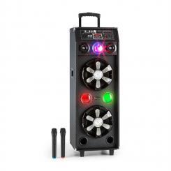 DisGo Box 2100 Amplificador DJ portátil con luces de discoteca, 100 W RMS y Bluetooth