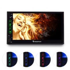 """MVD-470 Autoradio doble DIN con pantalla de 17,78 cm (7"""") Touchscreen Blue"""