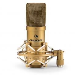 MIC-900G USB micrófono de condensador cardioide estudio dorado