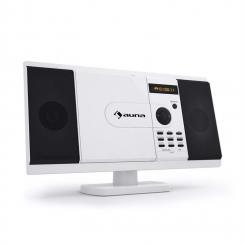 MCD-82 Cadena estéreo Reproductor de DVD USB SD blanca