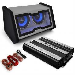 Basstronaut Set audio coche Subwoofer Amplificador Cableado