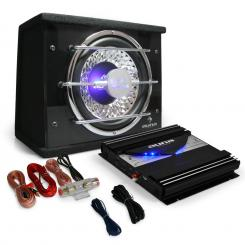 Electronic-Star Black Line 100 equipo sonido coche amplificador coche LEDnegro