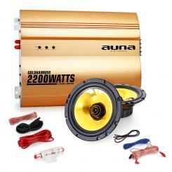 "2.0""Golden Race V2"" Set HiFi coche amplificador altavoces"