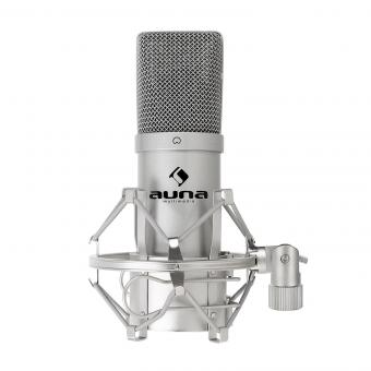 MIC-900S Micrófono condensador estudio USB Plateado