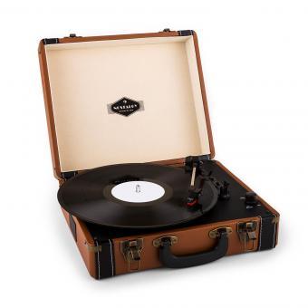 Jerry Lee tocadisco retro giradiscos vintage LP USB marrón claro