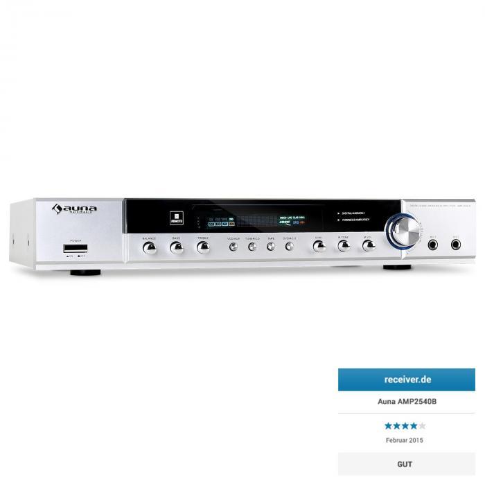 AMP-2540-S HiFi-Surround-Receiver Heimkino-5-Kanal-Verstärker weiß