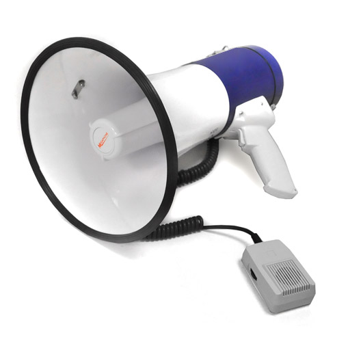 Mégaphone 80 watts portée 1000m Haut-parleur Sirène