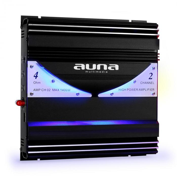 AMP-CH02 2-Kanal-Verstärker Auto-Endstufe 190W RMS 1400W max.