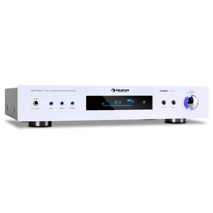 AMP-9200 Ampli surround 5.1 récepteur radio blanc 600W