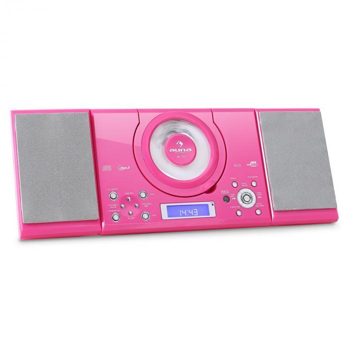 MC-120 Chaine Hifi Stéréo Lecteur MP3 CD USB Rose