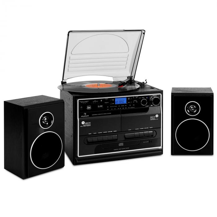 388 bt hifi cd stereo system turntable cassette bluetooth. Black Bedroom Furniture Sets. Home Design Ideas