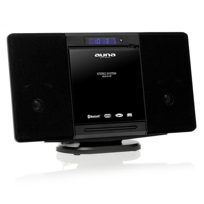 MCD-81-BT Stereoanlage schwarz Bluetooth USB UKW AUX CD MP3