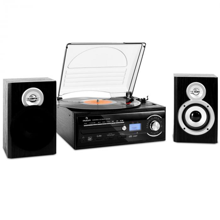 Tt 190 Hifi Cd Stereo System Turntable Mp3 Recording