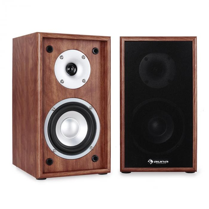 Line 300 SF WN 2 Way Passive Bookshelf Speakers Pair 150W Walnut